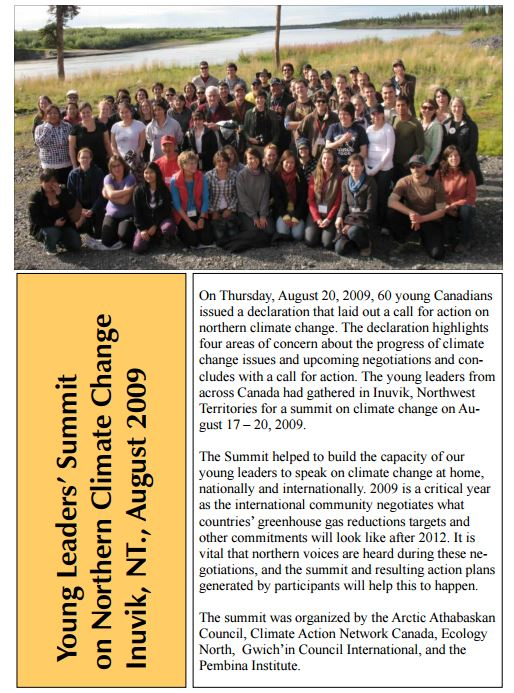Young Leaders' Summit on Northern Climate Change: Where the rubber and the passion hits the road!