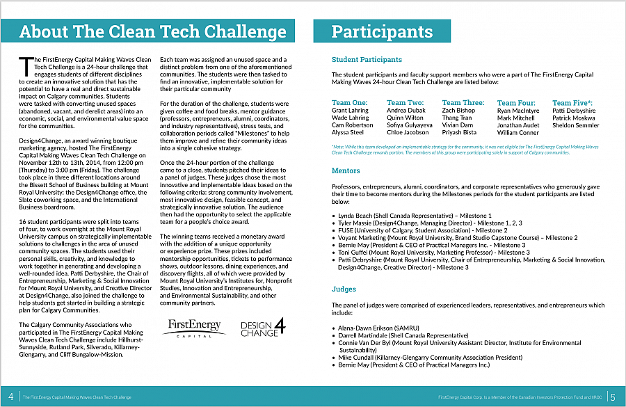 Making Waves Clean Tech Challenge